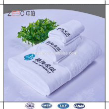 Hôtel 5 étoiles Ensembles de serviettes en pur blanc Pure Cotton Serviettes en coton Royal Hotel
