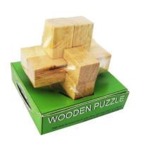Puzzle en bois de style croisé, style de luxe