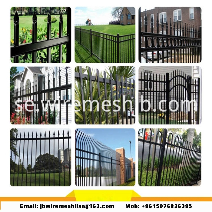 lPowder Coated Zinc Steel Fence Panels