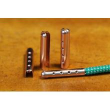 Vente chaude 20mm unique en métal personnalisé en or aglet chaussure en dentelle clip clip en métal pour sac