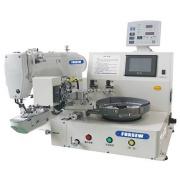 Máquina de costura de botão de alimentação automática