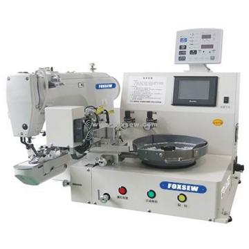 Máquina de costura de fixação automática de botões