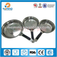 3pcs stainless steel fry pan set with detachable handle