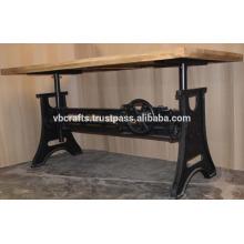 Heavy Mechanic Crank Dining Table New Design