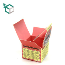 Custom color printing folding box for loose powder
