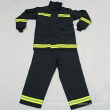 Cinta reflectante ignífuga fluorescente para uniformes de bombero