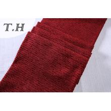 Tissu 100% de canapé de Chenille rouge de polyester doucement