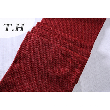 100% Polyester Red Chenille Sofa Fabric Softly