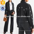 Ropa de mujer de moda al por mayor de la fabricación de la chaqueta de mezclilla cosechada (TA3035C)