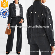 Cropped Denim Jacket Manufacture Wholesale Fashion Women Apparel (TA3035C)
