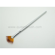 Long Handle Silver Nylon Nail Fan Brush