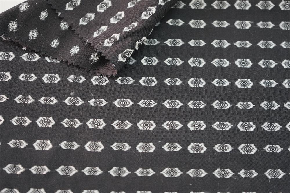 Cotton Rayon Yarn Dyed Jacquard Fabric