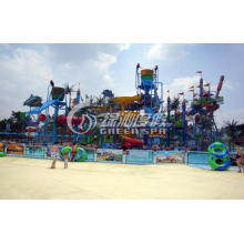 Customized Colorful Huge Aqua Playground Equipment with Ste