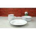 Белый/черный/голубой эмалированной кружки/плиты эмаль/эмалированная кружка