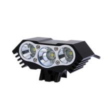 4 modos à prova d'água branco LED bicicleta lâmpada luz