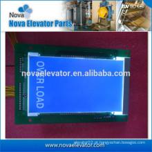 Peças elétricas do elevador, placa de exposição, exposição azul de LCD para LOP / COP