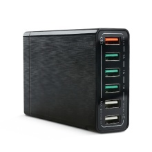 USB Charger 60W 6-Port Galaxy iPhone iPad