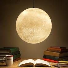 Hot sale 3d hanging moon lamp led pendant light