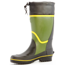 grass green men's sweat-absorbent lining rubber boots
