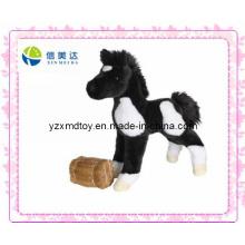 Игрушка черного лошади плюшевого бегуна (XMD-0070C)