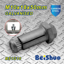 M10X18X50mm Hex Anchor Bolt Grade 12.9 for Steel Construction