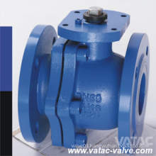 2 Pieces Wcb Flanged Type Trunnion Mounted Pig Ball Valve
