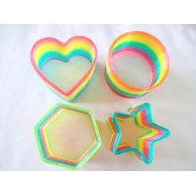 Rainbow Transparent Glitter Magic Springs