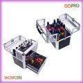 Crocodile PVC and Acrylic Vanity Box Easy Carry Nail Beauty Box (SACMC092)
