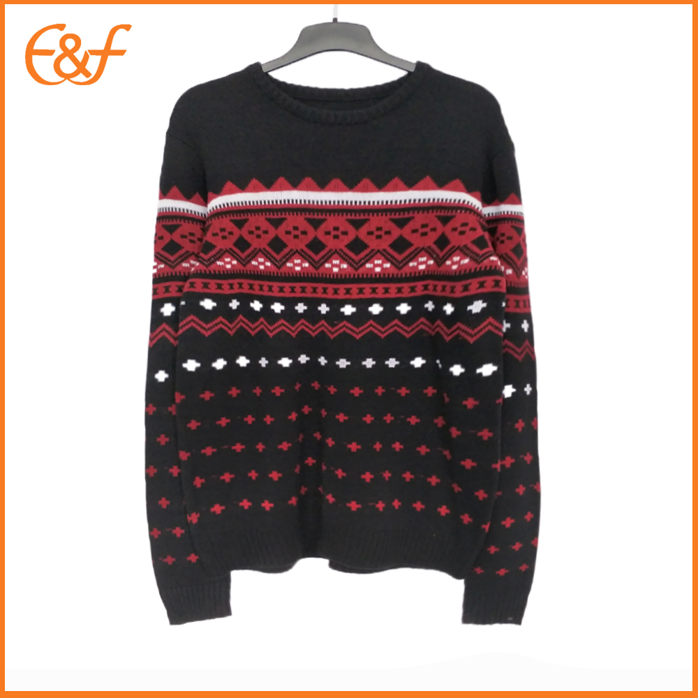 Best Men Fashionable Jacquard Sweater