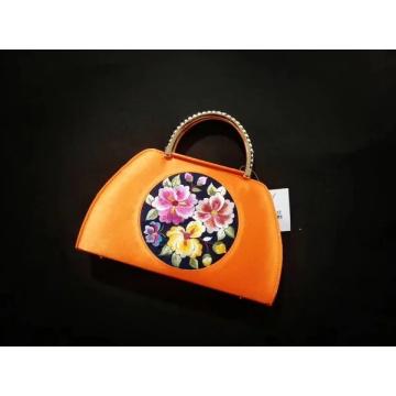 Bolsa de bordado de mão de senhora