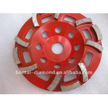 Dimaond grinding cup wheel for medium concrete