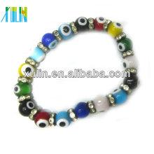 lindas contas redondas grandes turkish evil eyes bracelet