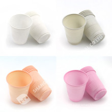 colorful dental plastic disposable 5oz PP PS curved cup