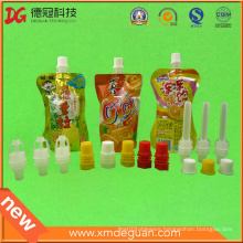 2016 New Jelly Plastic Spout with Cap