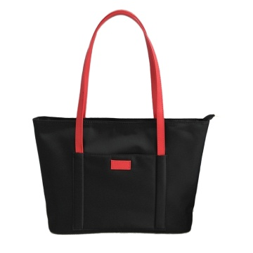 Ladies Nylon Tote Travel Beach Väskor med dragkedja