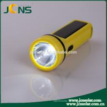 Brilho lanterna tocha luz da mão levou tocha com painel solar