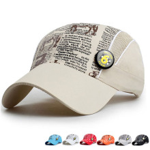 Kids Fashion Printed Microfiber Promotional Baseball Sports Sun Cap (YKY3418)