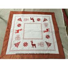 Mantel de bordado de Navidad de tela de poliéster 2016