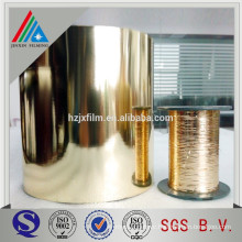metallic yarn film