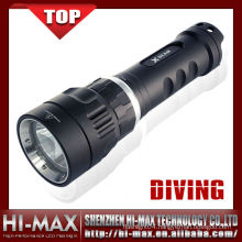 Aluminum small scuba diving light 1000 rechargeable