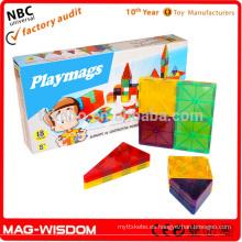 Bloques magnéticos de azulejos de construcción de construcción de azulejos Magna 18pcs