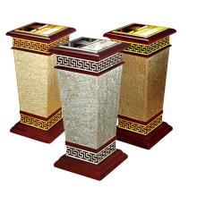 Holz- und Metall-Mülleimer für Lobby (YW0062)