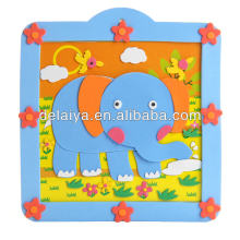 DIY animal 3D EVA foam sticker toy with photo frame for kids