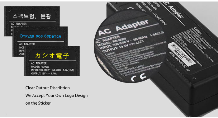 OEM Power Adapter For Dell 19.5V 4.62A 90W 4.5*3.0mm
