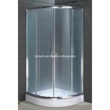Cuarto de ducha de vidrio con bandeja de ABS (AS-910)
