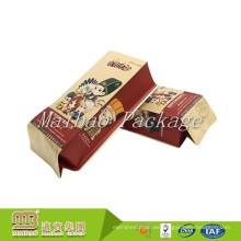 Material de la categoría alimenticia Empaquetado flexible Logotipo hecho a la medida de encargo Impresión de la bolsa de papel de Kraft del escudete lateral del sello cuádruple
