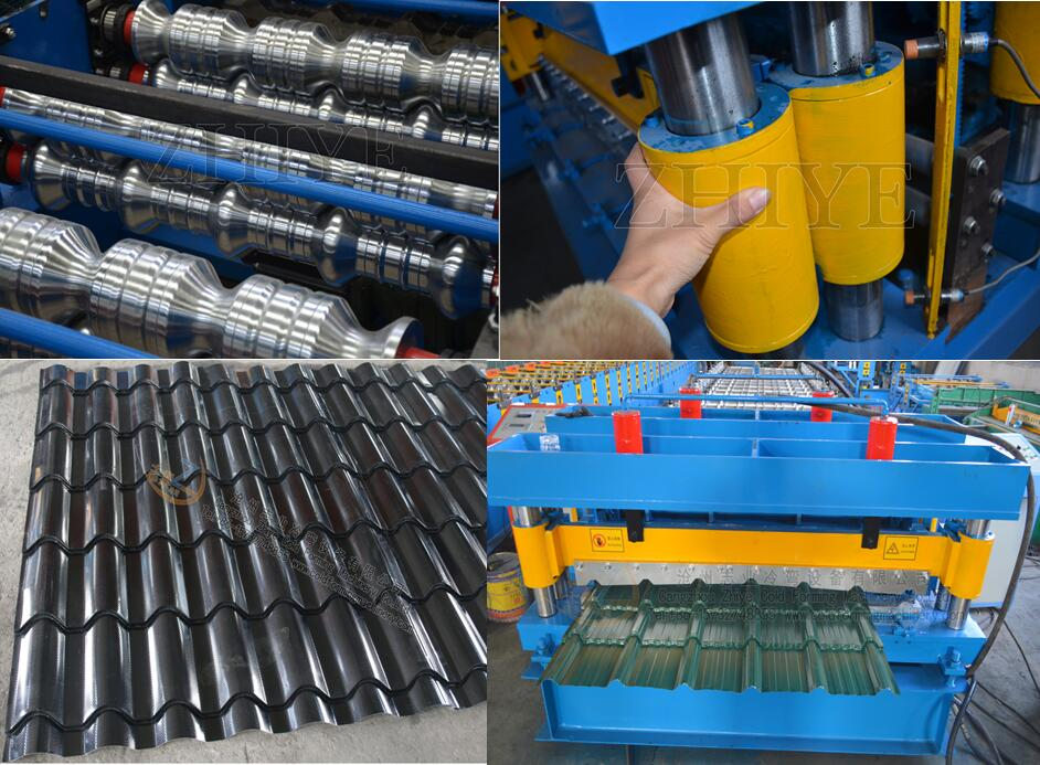 details of glazed sheet cold forming machines