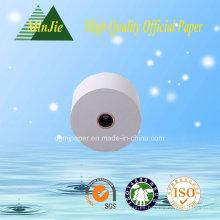 Calidad superior de color blanco de cajero rollo de papel de rollo de papel de impresión