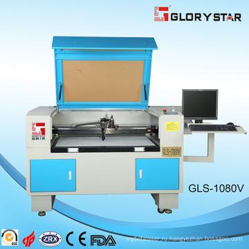 Лазерный станок для лазерной резки Gls1080 с стеклянной лазерной трубкой 80 Вт