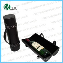 Black Hot Sale Leather Shipping Gift Wine Box (HX-PW017)